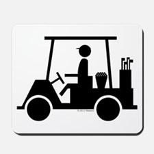 Golf Cart Icon Mousepad