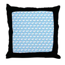 Mice Pattern on Blue. Throw Pillow