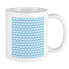 Mice Pattern on Blue. Mug