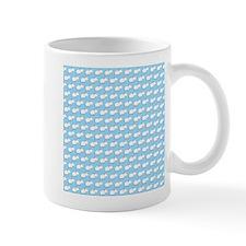 Mice Pattern on Blue. Small Mug