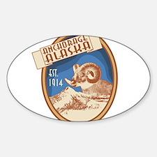 Anchorage Blue Bighorn Badge Decal