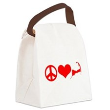 Peace Love Cape Cod Canvas Lunch Bag