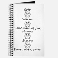 Cute Soft kitty Journal
