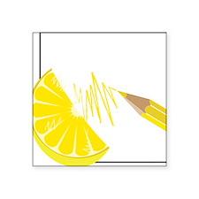 "Lemon Square Sticker 3"" x 3"""