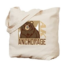 Anchorage Grumpy Grizzly Tote Bag
