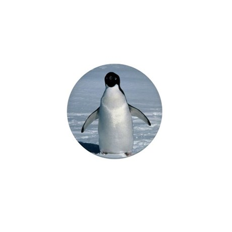 Lone Adelie with background Mini Button (100 pack)