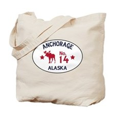 Anchorage Moose Badge Tote Bag