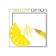 "Yellow Lemon Square Sticker 3"" x 3"""