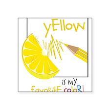 """My Favorite Color Square Sticker 3"""" x 3"""""""