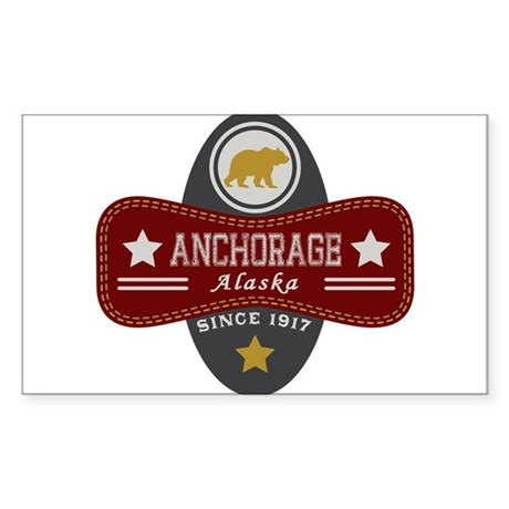 Anchorage Nature Marquis Sticker (Rectangle)