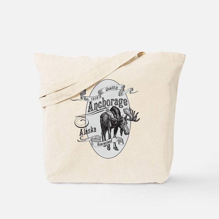 Anchorage Vintage Moose Tote Bag