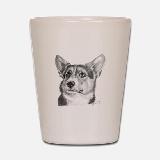 Corgi Shot Glass