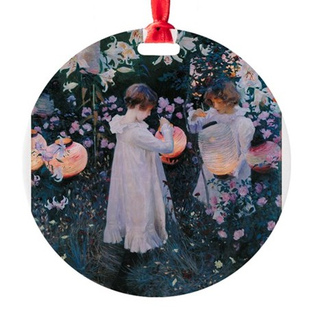 Sargent Carnation Lily Lily Rose Round Ornament