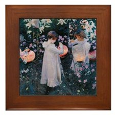Sargent Carnation Lily Lily Rose Framed Tile