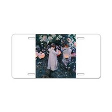 Sargent Carnation Lily Lily Rose Aluminum License