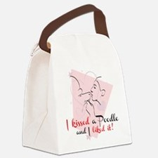 I kissed a poodle Canvas Lunch Bag