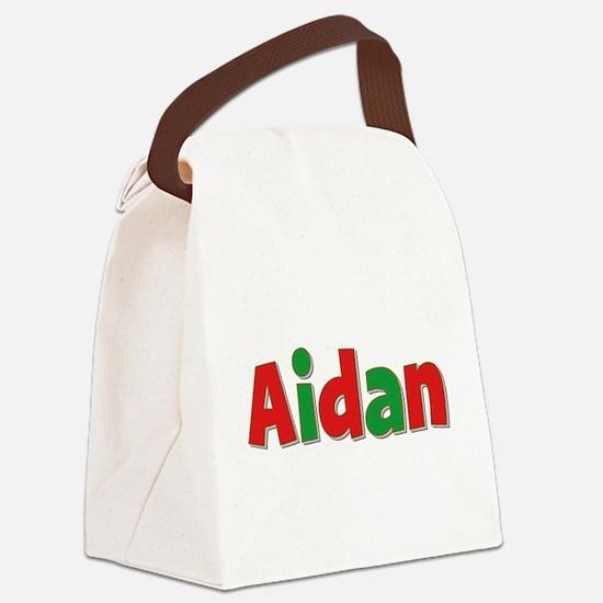 Aidan Christmas Canvas Lunch Bag