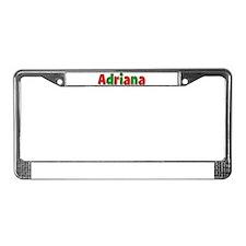 Adriana Christmas License Plate Frame