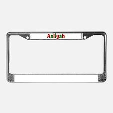 Aaliyah Christmas License Plate Frame