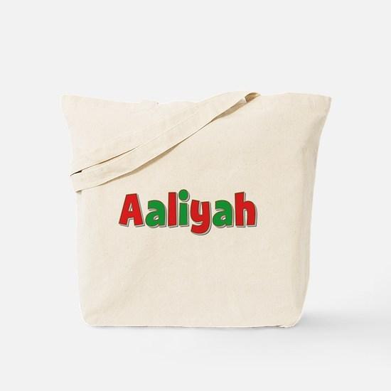 Aaliyah Christmas Tote Bag