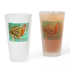 Mourning Dove Drinking Glass