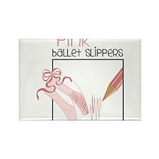 Pink Ballet Slippers Rectangle Magnet