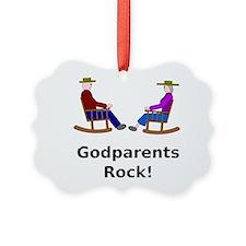 Godparents Rock Ornament