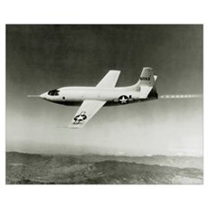 Bell X-1 in flight, the first supersonic aircraft Poster