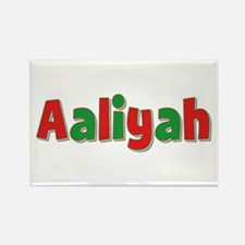 Aaliyah Christmas Rectangle Magnet