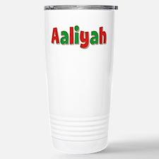 Aaliyah Christmas Stainless Steel Travel Mug
