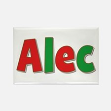 Alec Christmas Rectangle Magnet