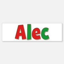 Alec Christmas Bumper Bumper Bumper Sticker