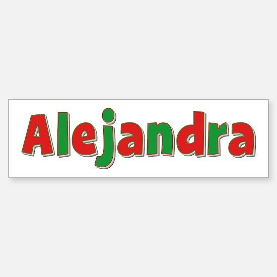 Alejandra Christmas Bumper Bumper Bumper Sticker