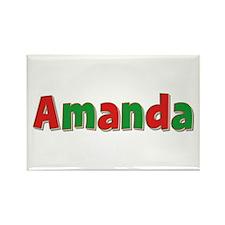 Amanda Christmas Rectangle Magnet