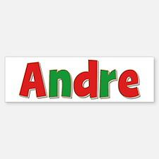 Andre Christmas Bumper Bumper Bumper Sticker