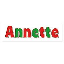 Annette Christmas Bumper Bumper Sticker