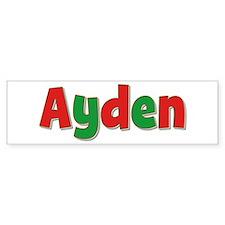 Ayden Christmas Bumper Bumper Sticker