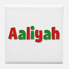 Aaliyah Christmas Tile Coaster