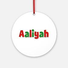 Aaliyah Christmas Round Ornament