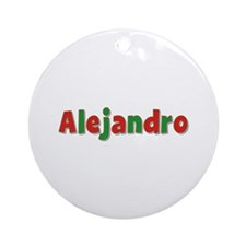 Alejandro Christmas Round Ornament