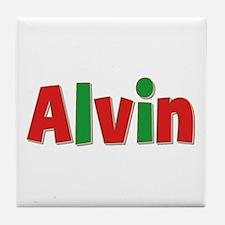 Alvin Christmas Tile Coaster
