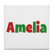 Amelia Christmas Tile Coaster