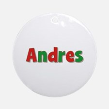Andres Christmas Round Ornament