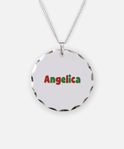 Angelica Christmas Necklace Circle Charm