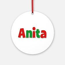 Anita Christmas Round Ornament