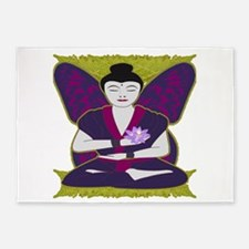 Lotus Girl 5'x7'Area Rug