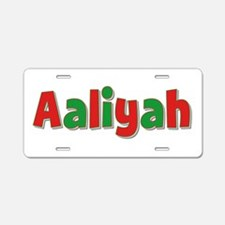 Aaliyah Christmas Aluminum License Plate