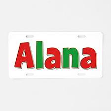 Alana Christmas Aluminum License Plate