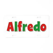 Alfredo Christmas Aluminum License Plate