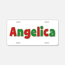 Angelica Christmas Aluminum License Plate